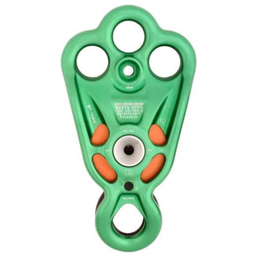 Seilrolle mit integrierter 3-Loch Rigging Platte und zusätzlicher unterer Anschlagöse