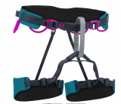 Einstellbarer, leichter Klettergurt für Frauen.