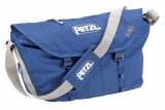 Seilsack mit großem Volumen, Umhängegurt, Hüftgurt und integrierter Seilplane